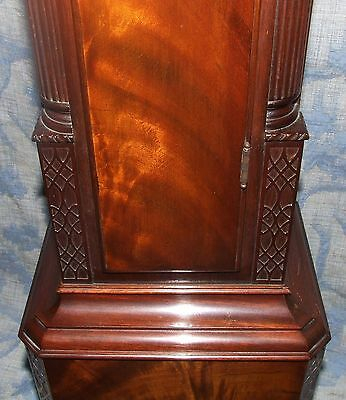Antique Mahogany Grandmother Clock / Miniature Longcase : Westminster Chimes 10