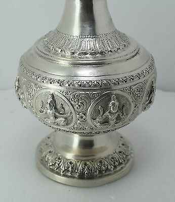 ANTIQUE 1920 PURE  STERLING SILVER Perfume / Gulab Art Figure Bottle 6