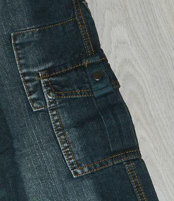 Jeans Pantalon Noir Delave Taille Elastique Multipoches 8 Ans  Neuf 3