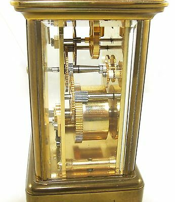 MATTHEW NORMAN LONDON SWISS MADE Brass Carriage Clock with Key : Working (49) 10