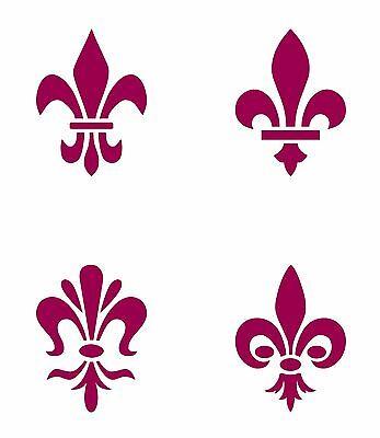 1 Of 4FREE Shipping Fleur De Lis Lys Tudor Emblem Motif Stainless Steel Stencil Template 4cm X 3cm