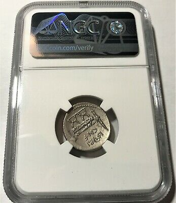 NGC Certified, Ancient Roman Republic, L. Fur. Brocchus, AR Denarius. c.63 BC. 4