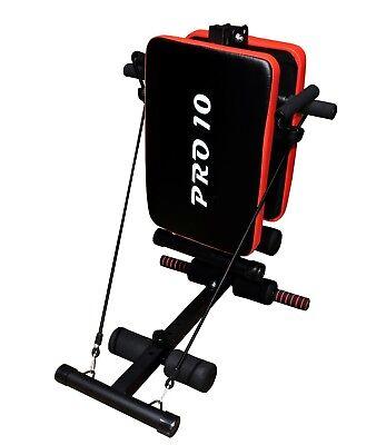 Banco de musculacion/entrenamiento plegable y ajustable marca Pro10 5