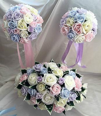 Fiori Matrimonio Luce colori pastello/Colori Arcobaleno Spose, Damigella, asole 2
