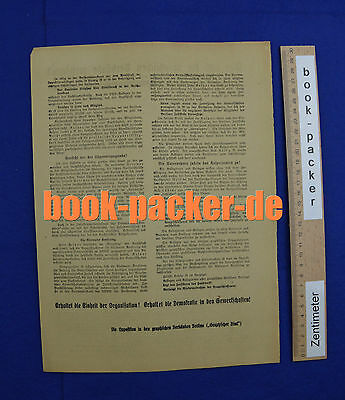Original Flugblatt (1923): Wer will die graphischen Verbände zerstören?