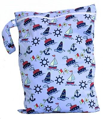 Waterproof Kids Wet Bag 30x40cm for Nappies, Clothes, Swimmers, nappy bag eco 8