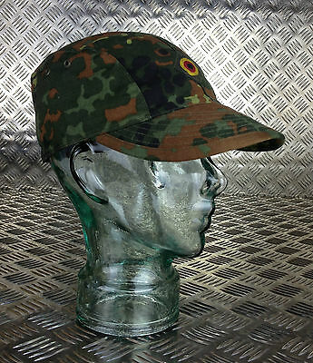 Size 58cms x 10 Hats Genuine German Army Flectarn Camouflage Peak Cap Hat