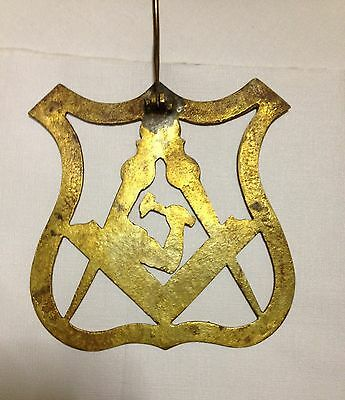 Masonic Emblem In Solid Cast Brass For Wall Door Or Gate 3
