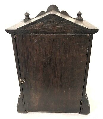 WINTERHALDER HOFFMEIER W & H Antique Oak Bracket Mantel Clock SERVICED 10