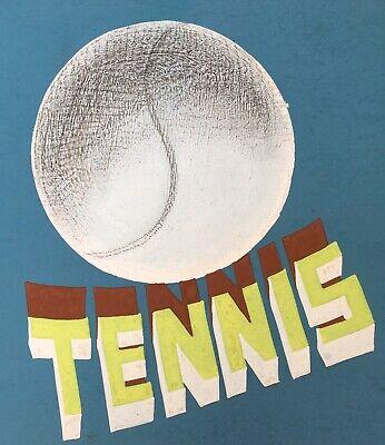 Gouache Originale Projet Affiche Publicité Tennis Delacroixriche Genève Art Déco 2