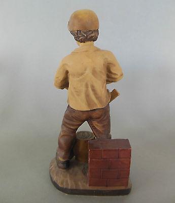 Maurer, Bauarbeiter  Beruf,ca. 20 cm hoch,Polystone bemalt,Sonderpreis Bemalung! 4