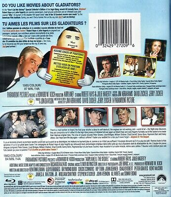 NEW BLU RAY - AIRPLANE + AIRPLANE 2 - THE SEQUEL - Peter Graves, Leslie Nielsen, 2