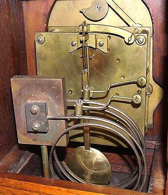 Antique Oak & Ormolu TING TANG Bracket Mantel Clock : Winterhalder W & H (a27) 11
