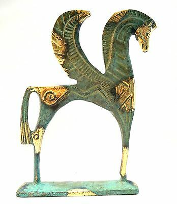 Ancient Greek Bronze Museum Statue Replica of Pegasus Flying Horse Collectable 2