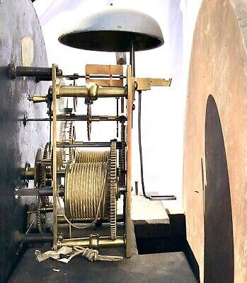 ~ Antique Inlaid Mahogany Longcase Grandfather Library Clock : DARLING EDINBURGH 11