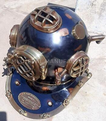 "Antique 18"" Diving vintage BOSTON MARK V U.S Navy Deep Sea Divers Helmet Replica 7"