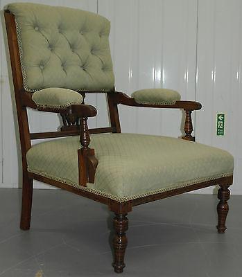 Pair Of Original Edwardian Circa 1910 Occasional Satinwood Cartouche Armchairs 2