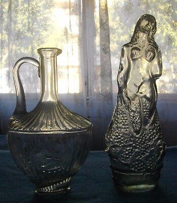 Dos Licoreras De Cristal Sin Tapon ( Vintage)