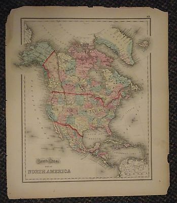 1873 GRAY\'S ATLAS Map of West Indies and Central America ...