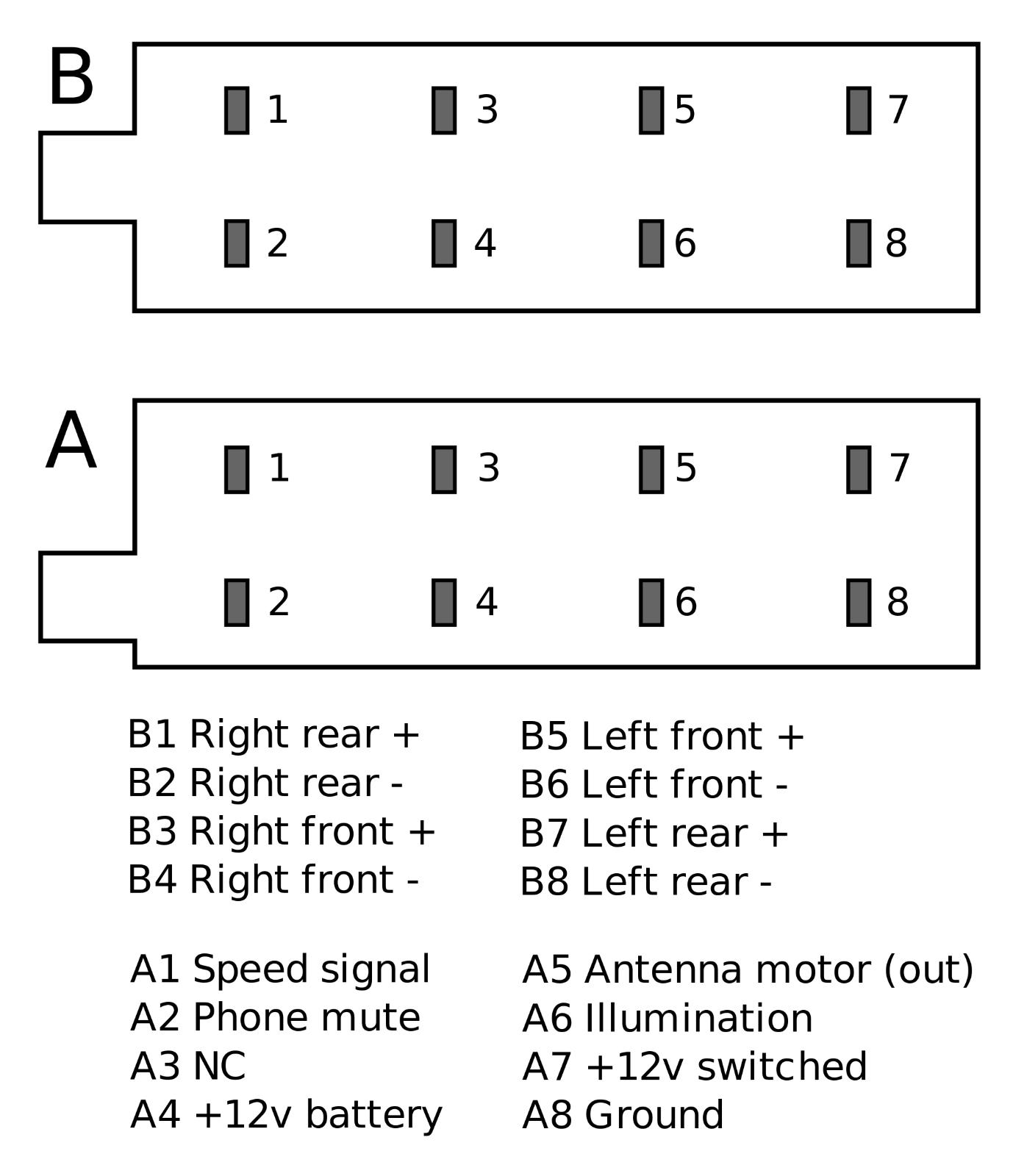 DIN ISO AUTO Radio Adapter Kabel Stecker 16 Pin Strom Lautsprecher ...