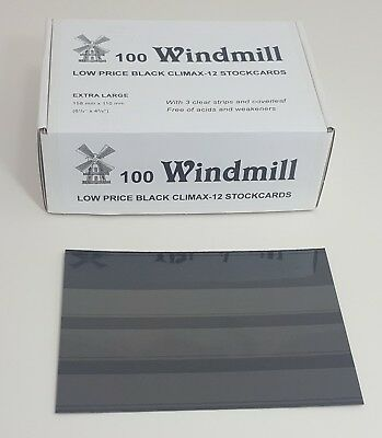 Windmill stockcards for stamps - Retail Boxed - for approvals etc 2 or 3 strips 3