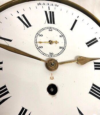 Antique Ships Marine Bulkhead Bulk Head Brass Cased Ships Clock ENAMEL DIAL 6