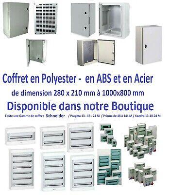 Coffret électrique saillie 5 rangées 24 modules Rési9 Schneider R9H24405 3