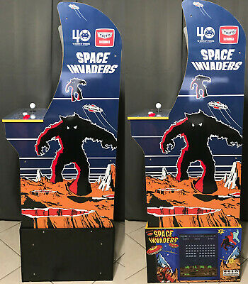 Arcade1up Cabinet Riser Graphics - Space Invaders Graphic Sticker Decal Set 7