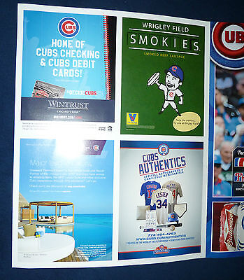 7 25 2015 PHOTOCOPY of TED'S SCORECARD CUBS COLE HAMELS PHILLIES NO HITTER NO NO 8