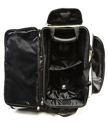 7 Of 11 Kaze Sports Deluxe 2 Ball Roller Bowling Bag With Smooth Pu Wheels