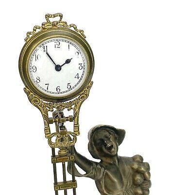 German Style Junghans Brass Onion Body Figure 8 Day Swinging Swinger Clock 4
