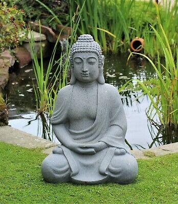 Xl Stone Effect Buddha Statue Garden Outdoor Lawn Ornament