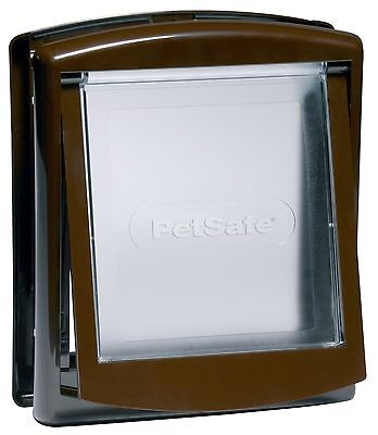 Cat Flap In White Or Brown For Small Pets (Lockable)
