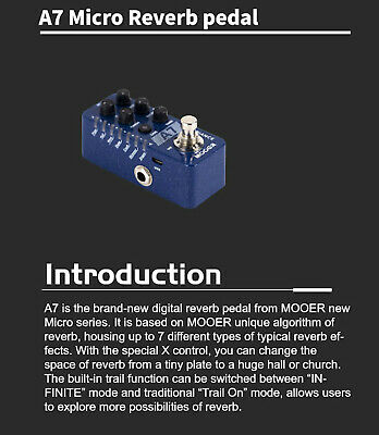 Mooer A7 Ambience Reverb Guitar Pedal New release 3