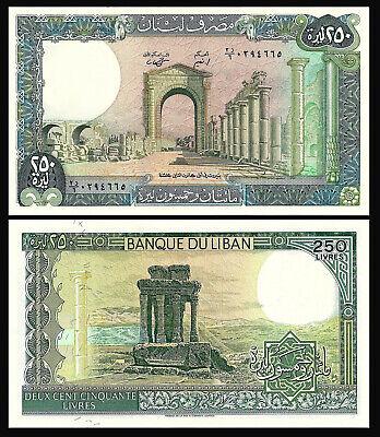 67e LOT X5 UNC NOTES *//* LEBANON 250 LIVRES 1988 P