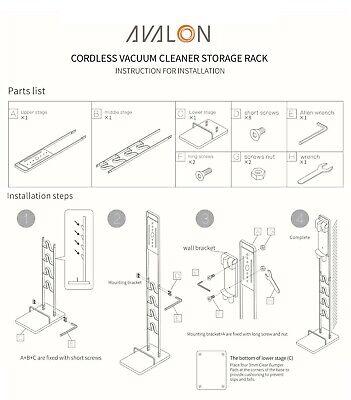 Freestanding Dyson Cordless Vacuum Cleaner Stand Rack Bracket - V6 V7 V8 V10 V11 10