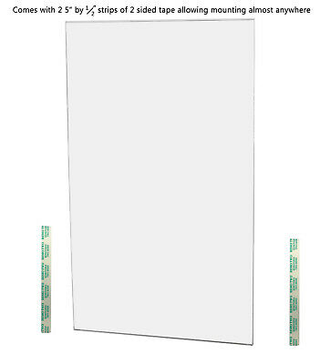 "Ad Frame Sign Holder 8 1/2""W x 14""H Wall Mount No Holes Clear Acrylic 5"