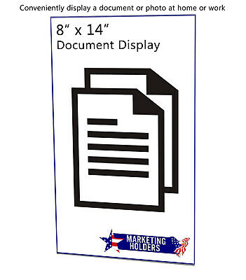 "Ad Frame Sign Holder 8 1/2""W x 14""H Wall Mount No Holes Clear Acrylic 6"