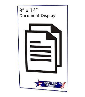 "Ad Frame Sign Holder 11""W x 4""H Wall Mount No Holes Clear Acrylic 9"