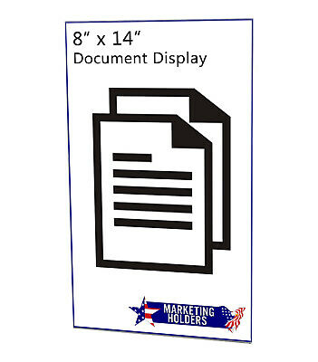 "Ad Frame Sign Holder 8 1/2""W x 14""H Wall Mount No Holes Clear Acrylic 9"