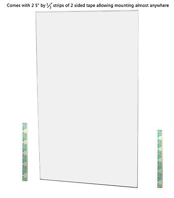 "Ad Frame Sign Holder 11""W x 4""H Wall Mount No Holes Clear Acrylic 5"