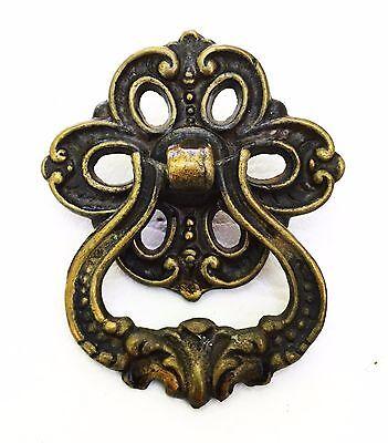 Brass Antique Drawer Pull Vintage Hardware Victorian Cabinet Knob Handle 3