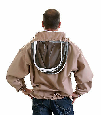 [UK] Beekeeping Buzz Work Wear Cappuccino Zip-Up Fencing Veil Jacket- ALL SIZES