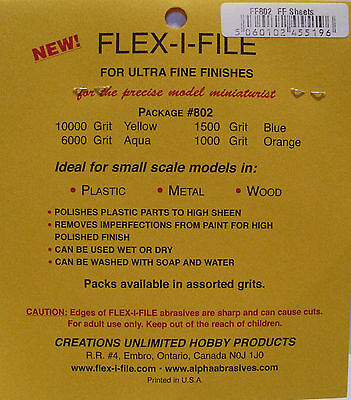 Albion Alloys 802 - Flex-i-File #802 Assorted Wet & Dry Abrasive Sheets 100 x 75 2