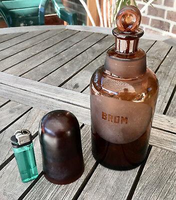 Apotheker -  sehr schöne Glaskappenflasche - BROM  -sehr selten - Gruseldeko 7