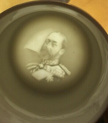 1902 Antique King Edward Vii Coronation Mug Lithophane On Base Lathom Burscough 3