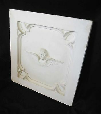 Antique Architectural Religious Italian Carved Marble Altar Angel/Cherub PANEL#1 2