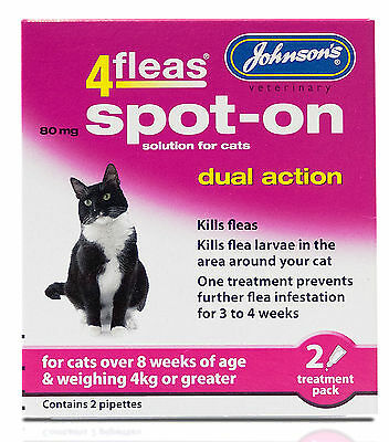 Johnsons 4Fleas Dual Action Spot On For Cats & Kittens Over Than 4kg 2