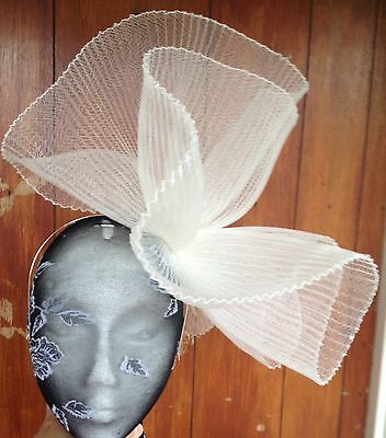 Ivory fascinator millinery burlesque wedding hat hair piece ascot race bridal x 2