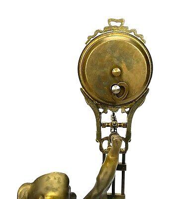 German Style Junghans Brass Onion Body Figure 8 Day Swinging Swinger Clock 5